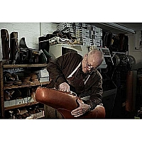 Mr Terry Eager Hand lasting a size 74 boot.